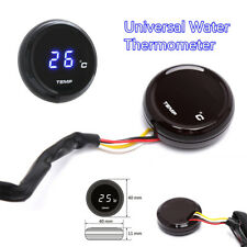 Blue Motor Thermometer Instruments Water Temperature Digital Display Gauge Meter