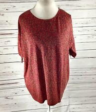 LuLaRoe Irma Size Small Red Floral NWT