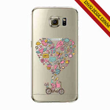 FUNDA BUMPER SILICONA IPHONE 6 6S CORAZON ROSA LOVE YOU DISNEY