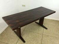 60er 70er Jahre Mahagoni Coffee Table Dining Table Wilhelm Renz Danish Design