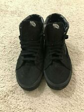 Vans Off The Wall Black High Top Skateboard Sneakers Size 13