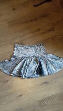 Joblot 3x silver & grey velvet dance skirt with hologram spots and front split