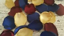 Burgundy Navy Blue Gold Wedding Flower Girl Rose Petals Decor Aisle Petals