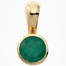 COLGANTE CON VERDE ESMERALDA 333 Oro Amarillo Oro smaragdanhänger Sencillo Mujer