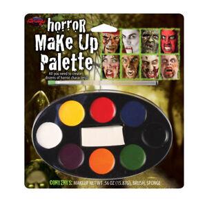 Halloween Make Up Pallete Childrens Adults Fancy Dress Face Paints