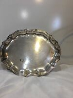 VINTAGE CHIPPENDALE INTERNATIONAL SILVER CO.  #6343 SILVER PLATE SERVING PLATTER