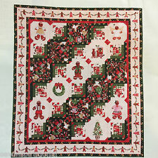 GINGERBREAD CABINS QUILT PATTERN HOLIDAY SEASON CHRISTMAS PATCHWORK LOG CABIN