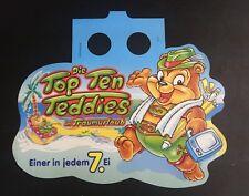 """Original Palettenanhänger """"Top Ten Teddies im Traumurlaub"""" Deutsch 1999 Serien"""
