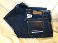 BILL BLASS Easy Fit Blue Denim Jeans Jeanswear Womens Size 14 Tall NEW NWT