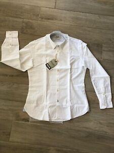 Camicia Fred Mello Bianca Misure M L XL