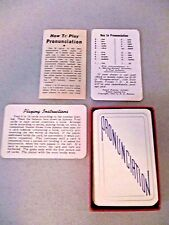 Antique 1944 PRONUNCIATION Educational PLAYING CARDS DECK Half Box GAME RULES