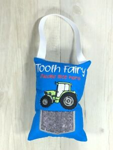 Tractor Tooth Fairy Pillow Novelty Gift Lost Tooth Pocket Pillow