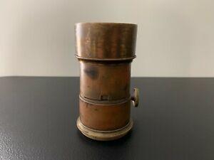 Antique Vintage Signed E. ANTHONY Brass Camera Lens