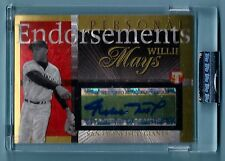 WILLIE MAYS 2004 TOPPS PRISTINE PERSONAL ENDORSEMENTS GOLD AUTOGRAPH AUTO /25