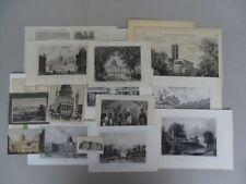 18 Grafiken - Potsdam - 6 Stahlstiche Lithographie 9 Holzstiche - 1840