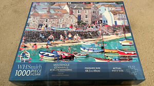 """W.H.SMITH 1000 PIECE JPUZZLE """"MOUSEHOLE CORNWALL"""" 🧩"""