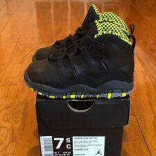 "DS 2014 Air Jordan 10 Retro TD ""Venom Green"" sz 7.5c Toddler Infant"