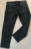 DENIM & DENIM Damen Jeans - schwarz-anthrazit Gr 44 Knopfleiste