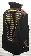 SDL Steampunk Heavy Black Cotton Military Jacket Antique L And Military Hat 59cm