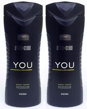 2 Axe for Men YOU Refreshing Fragrances Body Wash Shower Gel 16 oz