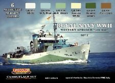 LIFECOLOR Royal Navy WWII Western Approach Late War Set #2 Camouflage Paint Set