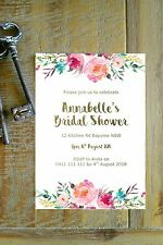 Printable Personalised Bridal Shower Baby shower INVITATION - boho floral