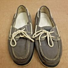 Timberland Earthkeeper Women Textile Jeans Blue Boat Loafers Lace Up Shoes Sz 10