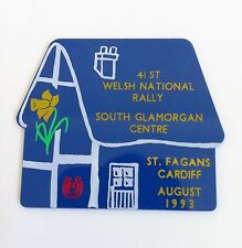 Vintage 'ST FAGANS CARDIFF' 41st Welsh Rally CARAVAN CLUB Aug 1993 PLAQUE Badge