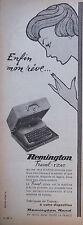 PUBLICITÉ 1958 MACHINE A ÉCRIRE REMINGTON RAND TRAVEL-RITER - ADVERTISING