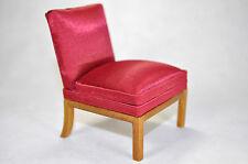Dollhouse Miniature 1:12 Scale Red Satin Slipper Chair #1197WN