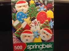 Christmas Puzzle Springbok Cookies and Christmas