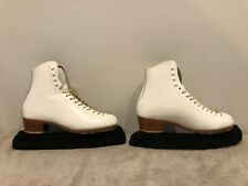 Size 7.5 A Riedell Model 320 Figure Skating Ice Skates Girls Womens Ladies 7 1/2