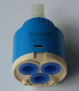 25/35/40mm Bath Basin Shower Lever Mixer Tap Inner Ceramic Cartridge Replacement