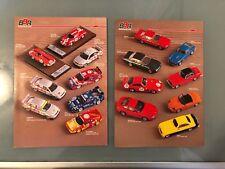 1:43 1:18 Lotto 4 Fogli BBR Catalogo Brochure Auto Modelli