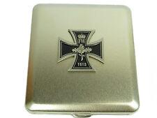 Cigarrera de metal plateado cruz cruz 1813 alemania para 20 Zig. #28