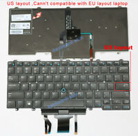 New for Dell Latitude  E5450 E7450 E7470 series laptop US keyboard  with backlit