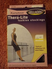 NOS Thera-Lite THERAPEUTIC SUPPORT PANTYHOSE Black Sz B 9-15 mmHg No Latex NEW