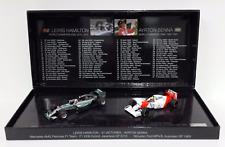 Lewis Hamilton y Ayrton Senna 2 coche juego 1 43 Minichamps 412 414408
