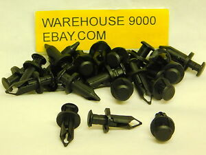 25 Push Type Retainers Auveco #17222 GM : 21075686;11561878 Saturn Ford 1991 On