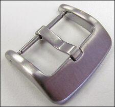 22mm Panatime Heavy Duty Brushed Square Watch Buckle - Spring Bar Attachment