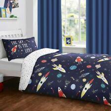 Kids Planets Space Ships Solar System Duvet Quilt Cover Bed Set