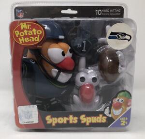Mr. Potato Head Sports Spuds Seattle Seahawks Blue Shirt NFL Edition Hasbro 2010