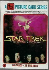 Star Trek The Motion Picture 88 Bubblegum & 22 Sticker Card Set - TOPPS 1979