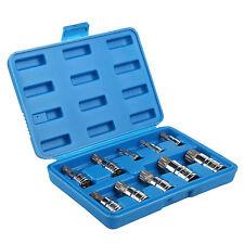 10PCS Multi Triple Square Spline Bit Socket Set Mechanics Tool UK