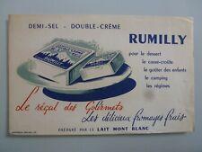 FROMAGE FRAIS RUMILLY LAIT MONT BLANC / BUVARD PUBLICITAIRE  ANCIEN