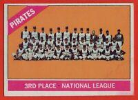 1966 Topps #404 Pittsburgh Pirates Team VG-VGEX MARK Roberto Clemente Stargell