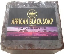 Raw UnRefined  - AFRICAN BLACK SOAP -Lavender Infused [Scented] 1lbs-From Ghana
