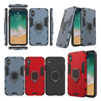 For iPhone X SE 5 5s 6 6s 7 8 Shockproof TPU Bumper Ring Holder Stand Case Cover