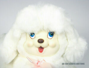 "VINTAGE DAN DEE PUPPY SURPRISE RUBBER FACE BUNDLE OF LOVE PUPPY & BABY 14"" 1980s"