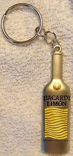 Bacardi Limon key chain...mini metal bottle..shiny..NEW